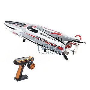 "Image 1 - G30H ARTR RC 54"" 30CC Engine Gasoline Fiber Glass RC Racing Boat Radio System Servos Grey THZH0055"