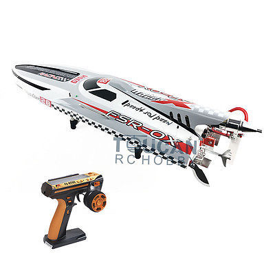 "G30H ARTR RC 54"" 30CC Engine Gasoline Fiber Glass RC Racing Boat Radio System Servos Grey THZH0055"