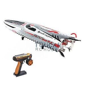 """Image 1 - G30H ARTR RC 54 """"30CCエンジンガソリン繊維ガラスrcレーシングボートラジオシステムサーボグレーTHZH0055"""