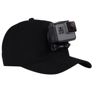 Image 1 - For Go Pro Accessories Outdoor Sun Hat Topi Baseball Cap with Holder Mount for GoPro HERO5 HERO4 Session HERO 5 4 3 2 1 black