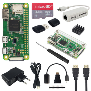 Raspberry Pi Zero W Kit + Acrylic Case + Optional SD Card | 2.8 inch Touchscreen | Camera |RJ45 Network Card | HDMI Cable