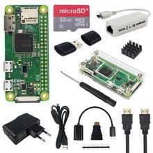 Raspberry pi zero w kit + acrílico caso + adaptador de energia cartão sd opcional | tela sensível ao toque de 2.8 polegadas | câmera | rj45 placa de rede