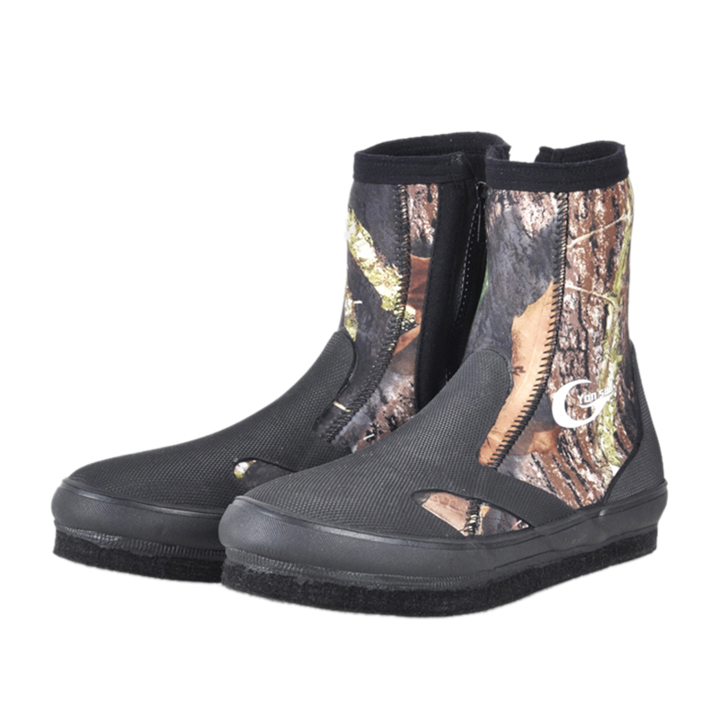 FSTE Yonsub Neoprene Diving Boots Wear Resistant Upstream Shoes Non Slip Fishing Shoes Camouflage Keep Warm