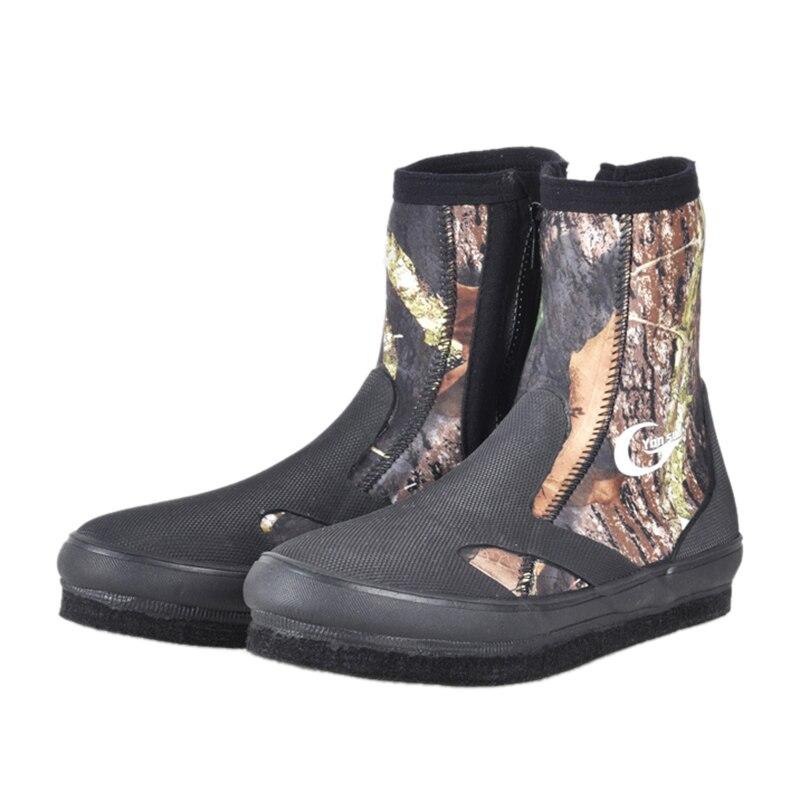Bottes de plongée en néoprène FSTE Yonsub chaussures en amont résistantes à l'usure chaussures de pêche antidérapantes Camouflage garder au chaud chaussures de sport nautique