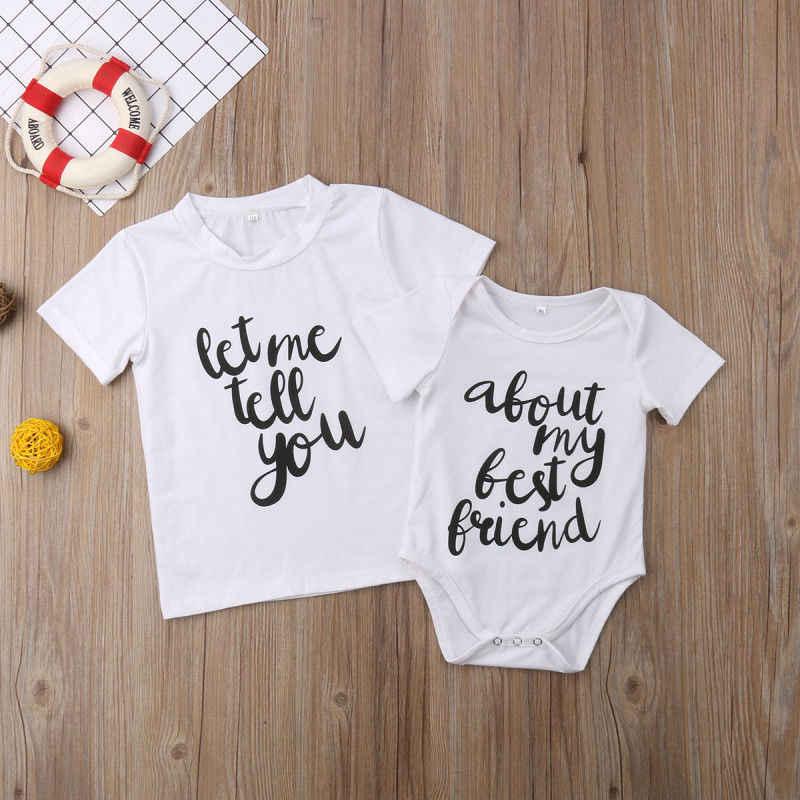 2019 Multitrust ブランド新生児キッズベビー少年少女の綿トップ Tシャツロンパース手紙半袖服夏カジュアル