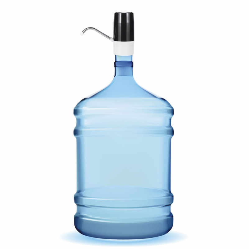 AUGIENB المياه الكهربائية مضخة USB قابلة للشحن الفولاذ المقاوم للصدأ الصلب الأنابيب موزع مياه الغذاء الصف سيليكون مياه الشرب زجاجة