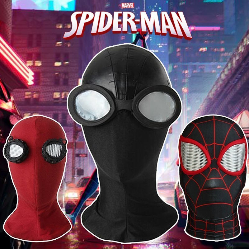 Spider Man Homecoming Noir Cosplay Mask Spider Gwen Costume Accessories Halloween Verse Headwear Avengers Ultimate Scarlet