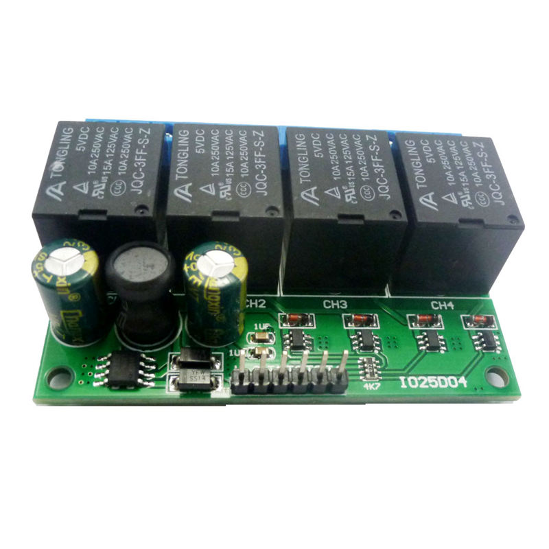FULL-4Ch Dc 6V-24V Flip-Flop Latch Relay Module Bistable Self-Locking Electronic Switch Low Pulse Trigger Board Button Mcu Io