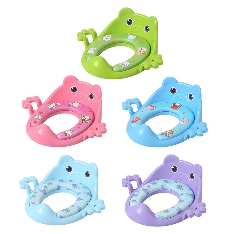 Cartoon Baby Toilet Potties Cute Children Potty Safe Seat Soft Cushion With Armrests For Girls Boys Toilet Seat