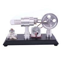 Double Cylinder Micro Diy Hot Air Stirling Engine Motor Model External Combustion Engine Early Learning Education Toys For Kid