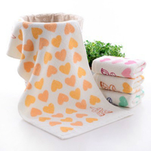 New 72x32cm Pure Cotton Love Peach Large Towel Kids Thickening Super Soft Men And Women Children Washcloth Sports Multi-purpose