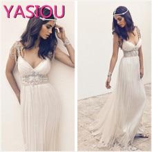 HOT 2019 Beach Chiffon Summer Beach Wedding Dress Vestidos D