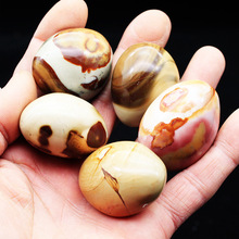 Natural marine stone play original ornaments rough egg small hand to a piece of mineral specimen gift