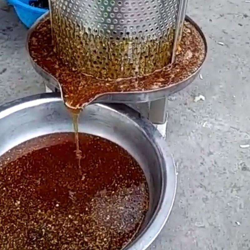 Novo manual do agregado familiar de aço inoxidável mel presser cera imprensa apicultura ferramenta jardim fornecimento - 4