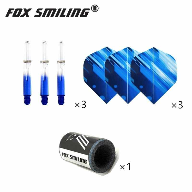 Fox Smiling 2BA 35 мм нейлон Дротика валы с полетами перо, мягкие наконечники, точилка для камня дардор набор аксессуаров