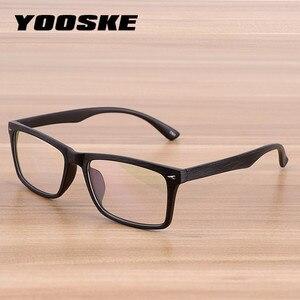 YOOSKE Men Retro Wooden Pattern Glasses Frame Women Classic Optical Spectacle Eyeglasses Fashion Style Bamboo Wood Eyewear(China)