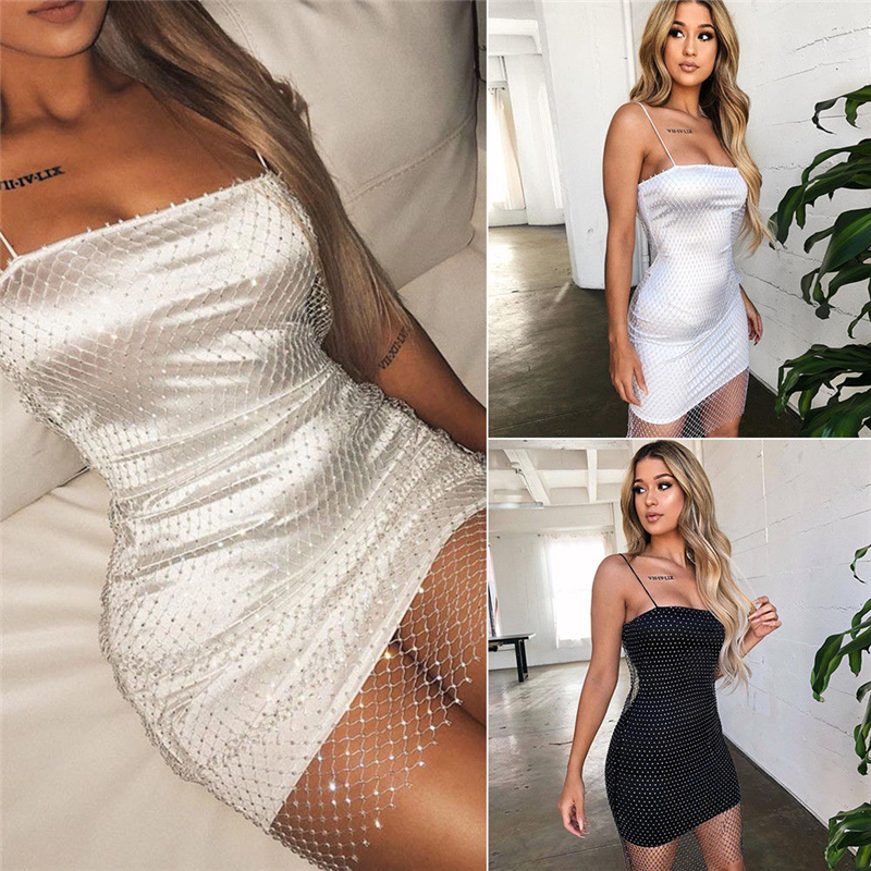 HIRIGIN Women Sexy Seamless Long Mini Mesh Dress Tank Top Slip Stretch Dress