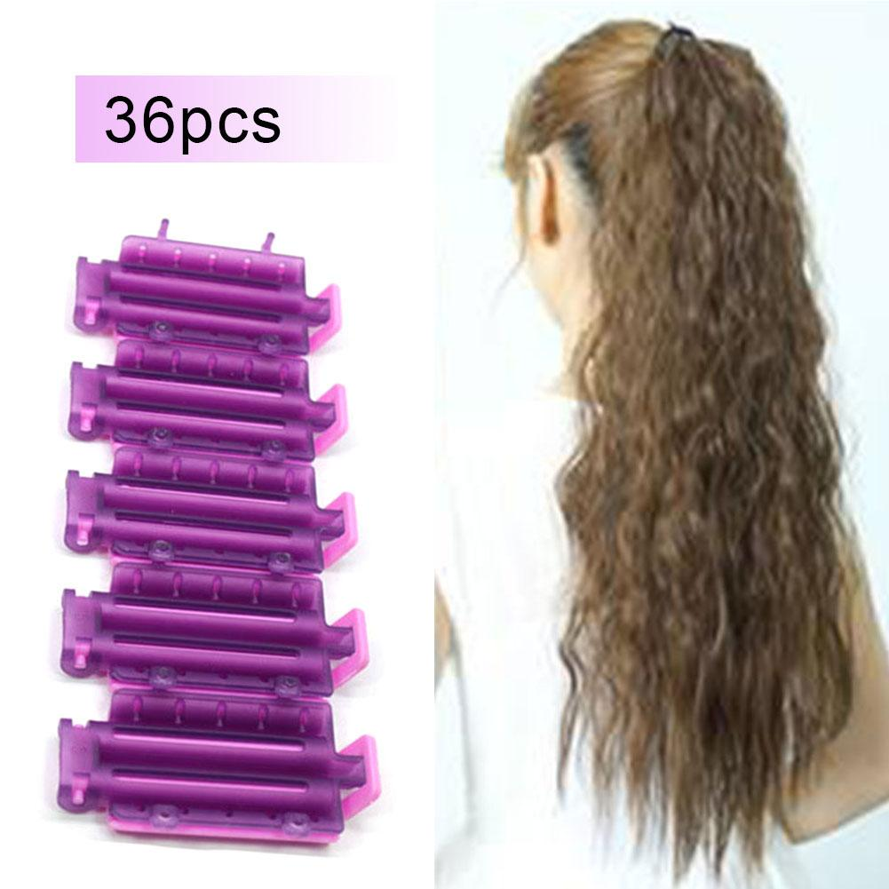 36pcs/bag Hair Clip Wave Perm Rod Bars Corn Curler DIY Curler Fluffy Clamps Rollers Fluffy Hair Roots Perm Hair Styling Tool36pcs/bag Hair Clip Wave Perm Rod Bars Corn Curler DIY Curler Fluffy Clamps Rollers Fluffy Hair Roots Perm Hair Styling Tool