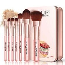 Professional Makeup Brush 7 pcs Tool Sets Perfect for Foundation Powder Blush Eye Brow Comestic Kit