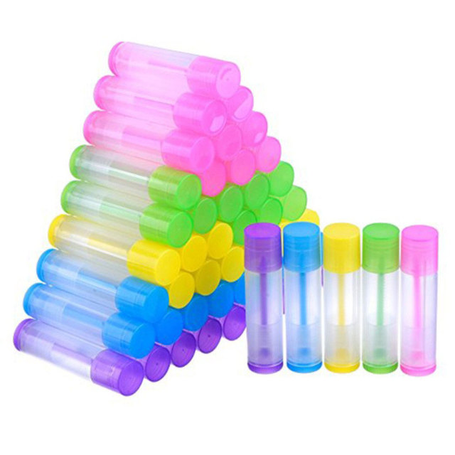100pcs Lip Balm Tubes Empty Plastic Lip Balm Tube Lipstick Tube Chapstick Containers Lipstick Containers for Handcraft DIY