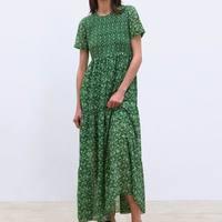 Women Summer Long Dress 2019 New Fashion Elastic Bust Floral Prints Modern Lady's Maxi Dresses Feminino Vestidos