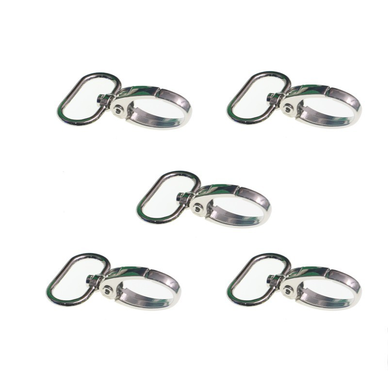 5pcs/lot Metal Hook Suspender Clip Scissor Snap Leatherworking 15 20 25mm Attachment Ring Clip DIY Parts