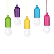 5 colores/Juego Mini linterna portátil tienda de campaña bombilla LED lámpara de emergencia impermeable colgante gancho linterna para Camping 3 * AAA