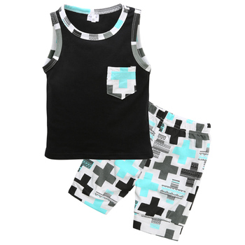 2 pieces Tanks Top and Shorts Set For Baby Boy Summer Clothes Boys Clothing Sets, Toddler Boy Suit Set, Newborn Baby Boy Sets, Baby Boy Outfit Sets
