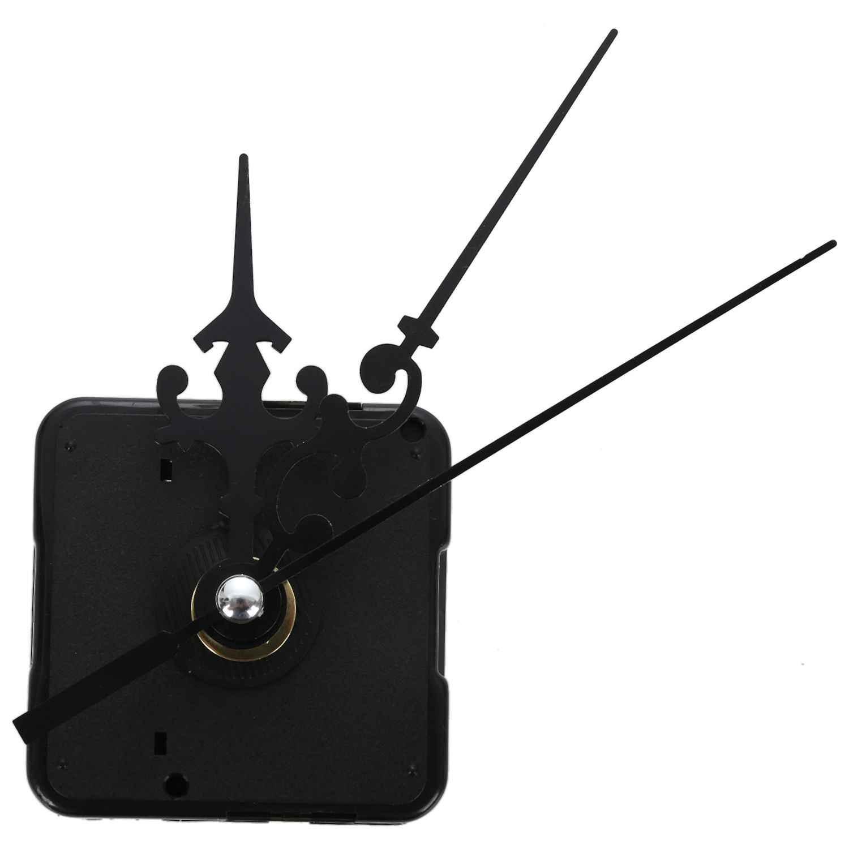 EASY-DIY Textura do Metal do Relógio Criativo Relógio de Parede movimento do Relógio de Parede Retro Acessórios Preto