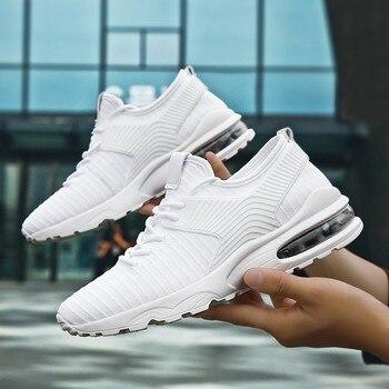 061fd03368 Zapatos de suela de aire para hombre zapatillas de deporte informales 2019  primavera Original amortiguación auténtica zapatos deportivos de moda para  hombre ...
