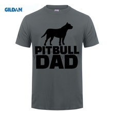 GILDAN Concert T Shirts Pitbull Dad Dog Mens Tees Short Sleeve Clothes Print Cotton Round Neck Grey Men T-Shirt