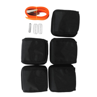 Detachable 5 Pocket Adjustable Weight Belt Webbing Strap Buckle for Scuba Diving Free Fiving Snorkeling Spearfishing
