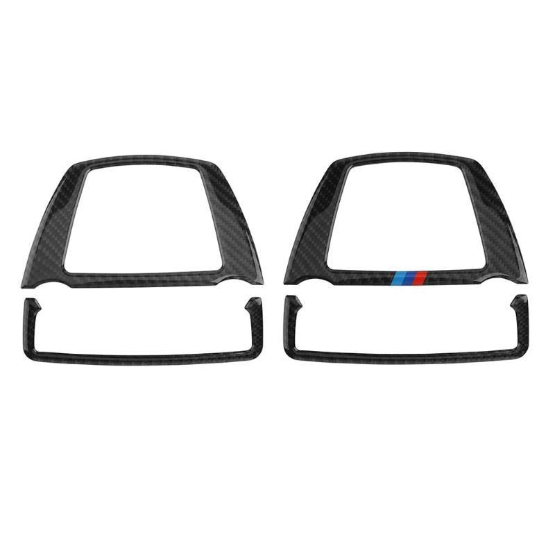Carbon Fiber font b Car b font Reading Light Decor Cover Trim Sticker font b Interior