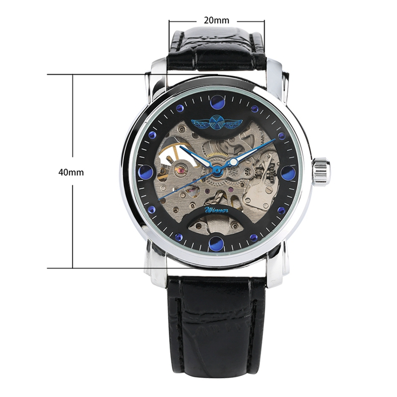 WINNER Watch Men Self Winding Mens Watch Sports Casual Hour Clock Top Brand Luxury Automatic Male Watch Gifts reloj para hombre in Mechanical Watches from Watches