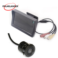 Waterproof Reverse Camera Car auto vehicle Mini Color TFT LCD 170 degree CAM car auto vehicel parking monitor 4.3 inch