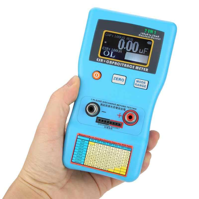 Newstyle kondensator miernik ESR o wysokiej dokładności wyświetlacz cyfrowy automatyczne zakres pojemność elektrolityczna ESR miernik omomierz