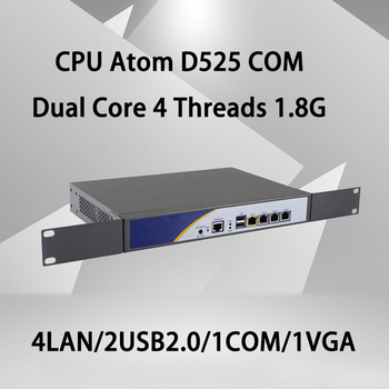 Брандмауэр Mikrotik Pfsense сети VPN Security Appliance маршрутизатора ПК  Intel Atom D525, [HUNSN RS01], (4LAN/2USB2