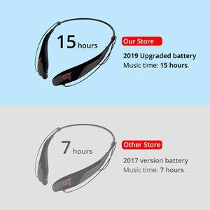 Image 3 - WXYY auriculares inalámbricos bluetooth, auriculares manos libres deportivos de gran capacidad con micrófono estéreo