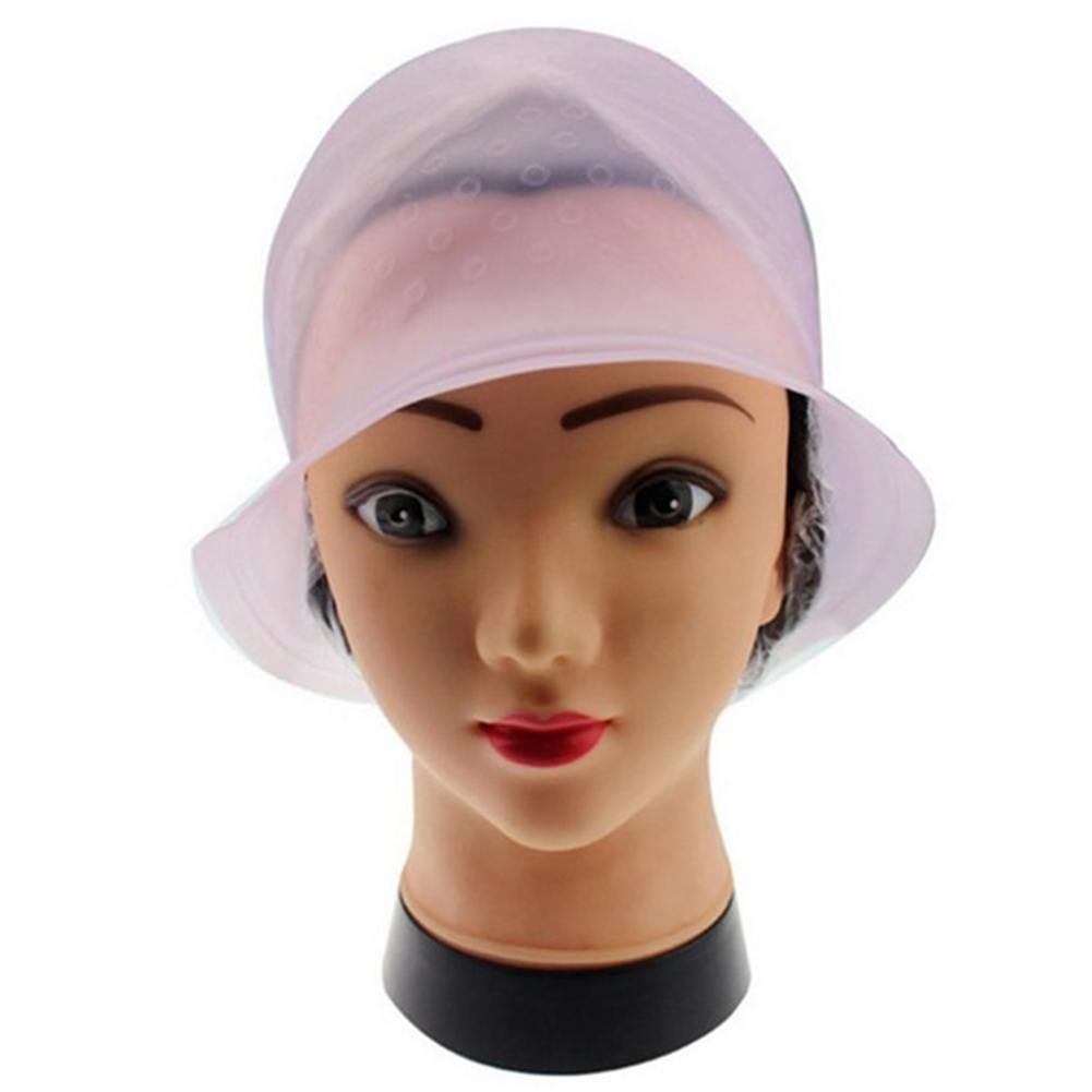 New Dye Cap Reusable Silicone Salon Hair Coloring Highlighting Dye Cap With Frosting Tipping Hair Color Styling Tools