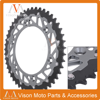 CNC Rear Chain Sprocket Steel and Aluminum For Husqvarna Betamotor 650 TR Terra 650 TR Strada 350 Jonathan 01 02 03-10 2013-2014