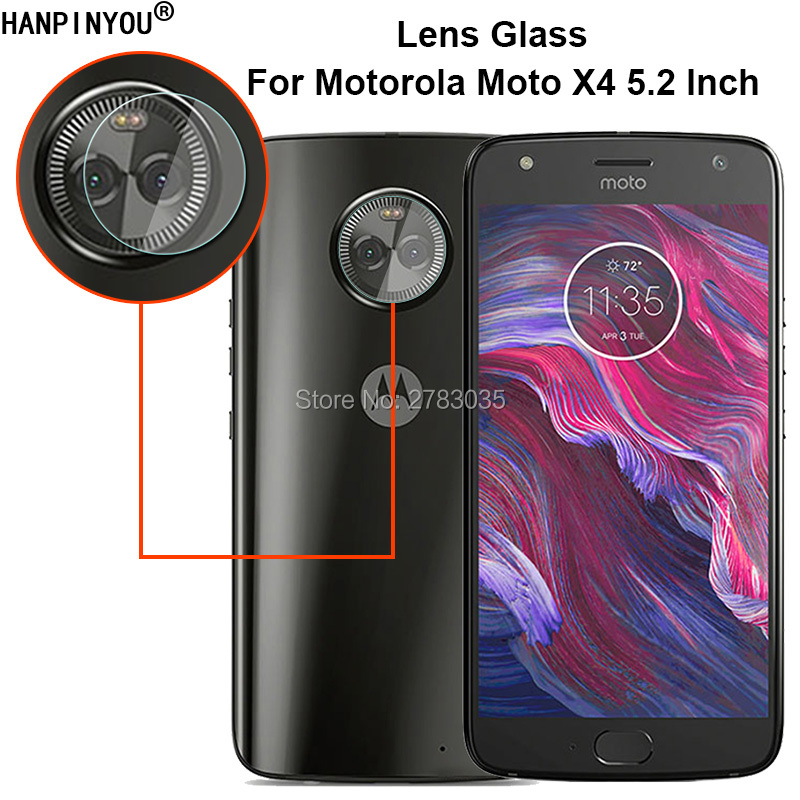 For <font><b>Motorola</b></font> <font><b>Moto</b></font> X4 X4th Gen 2017 <font><b>XT1900</b></font> Clear Ultra Slim Back Camera Lens Protector Rear Camera Lens Cover Tempered Glass Film image