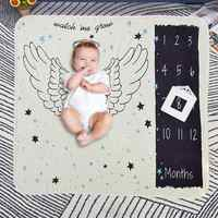 1pcs Letters Floral Print Blanket Baby Photo Prop Cute Quilt Carpet for Baby Photo Shooting Photography Props Bathing Towels