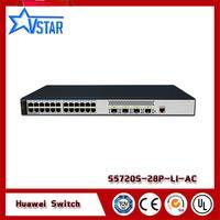 Hua wei 24 Ethernet 10/100/1000 ports.4 Gig SFP network manageable switch S5720S 28P LI AC