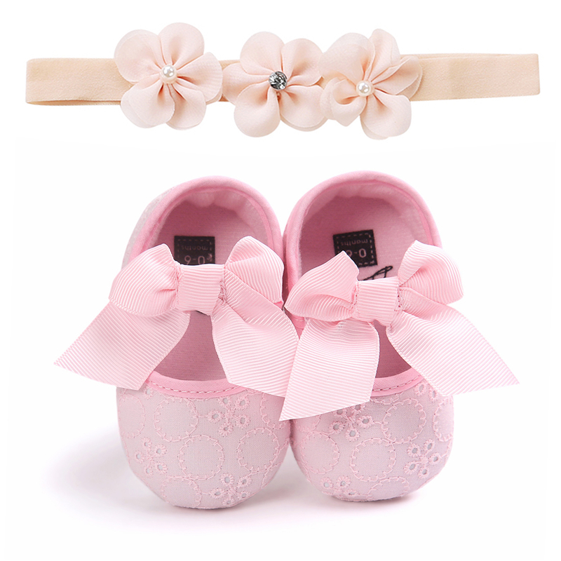 Baby Newborn Toddler Girl Crib Shoes Anti-slip Pram Soft Sole Prewalker Sneakers