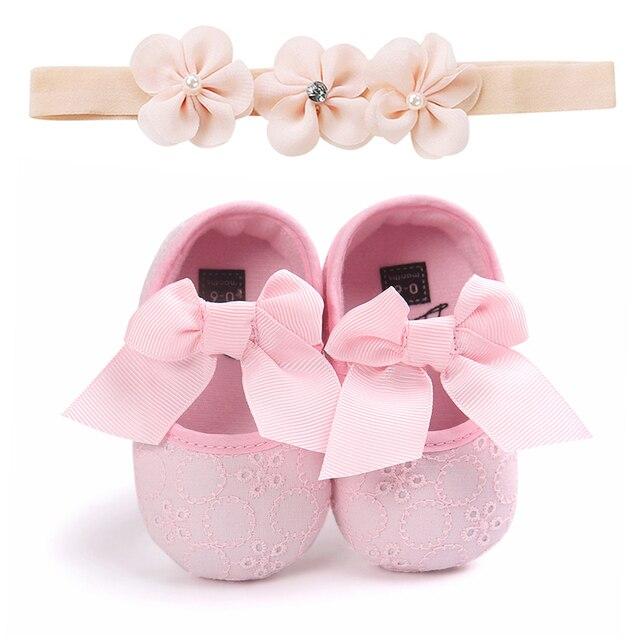 Bebek Yenidoğan Bebek Kız Ilmek Beşik Ayakkabı Pram Prewalker kaymaz Sneakers Yumuşak Sole 4 Renk