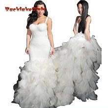 BacklakeGirls Spaghetti Mermaid Wedding Dresses Plus Size