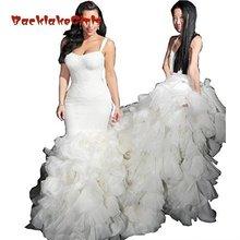 BacklakeGirls Spaghetti Mermaid Wedding Dresses Plus Size