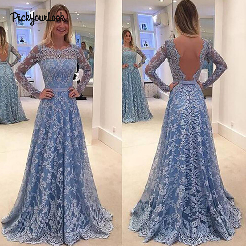 PickyourLook Plus Size Dress 5XL Backless Party Dress Elegant Lace vestidos robe femme Women Dresses Wedding Sexy Maxi Dress