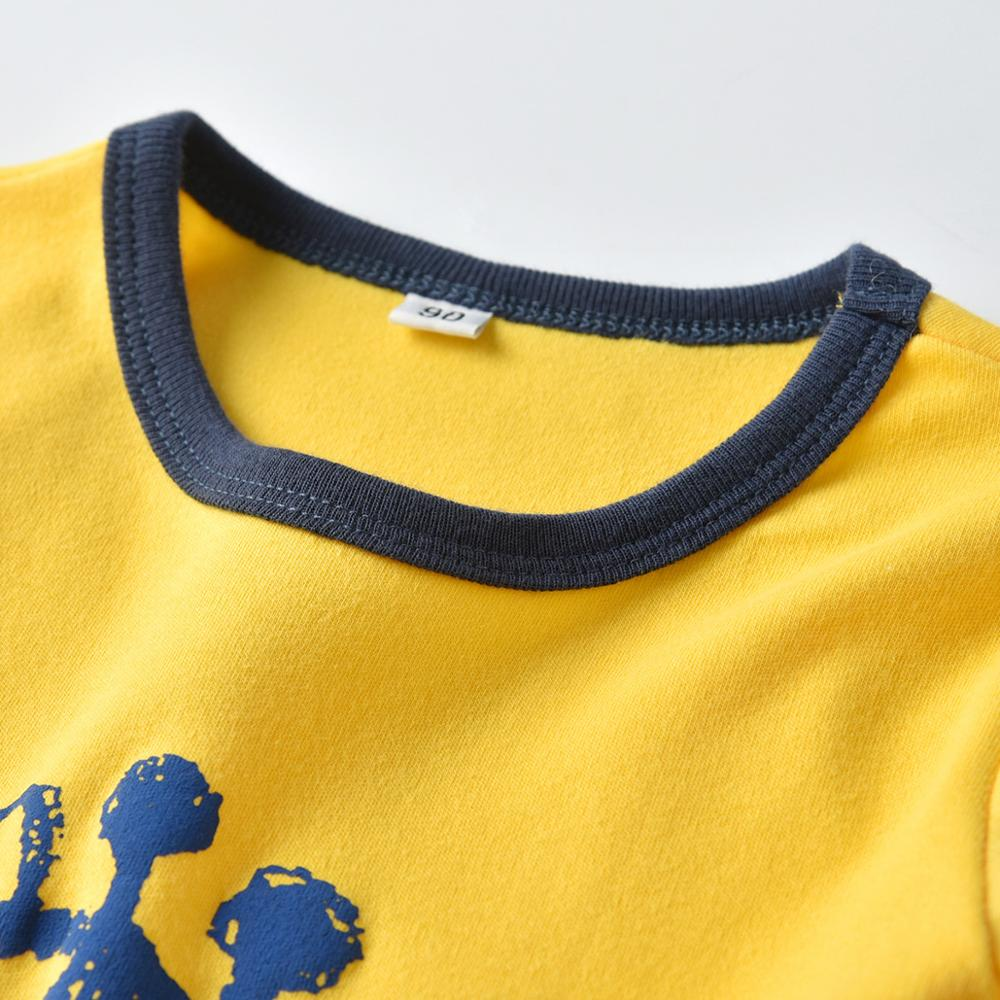 VTOM Baby Boys Long sleeved T Shirt Kids Yellow Cartoon T Shirt Pure Cotton Kids Clothes With Quality Assurance XN48 in T Shirts from Mother Kids