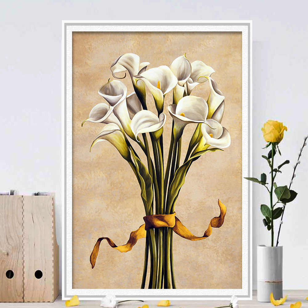 Flower Home Decoration Canvas Wall Art Poster Unframed Printing Painting Picture Room New Home Decor